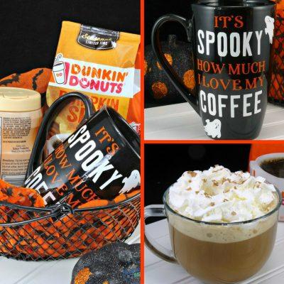 Hazelnut Mocha Delight Coffee Recipe + DIY Halloween Coffee Mug