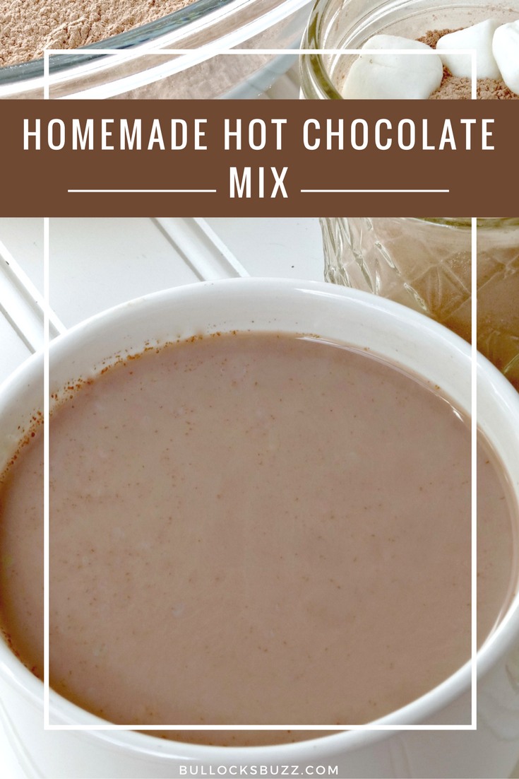 Homemade Hot Chocolate Mix for those cool nights and chocolate cravings. Click through to get the recipe!