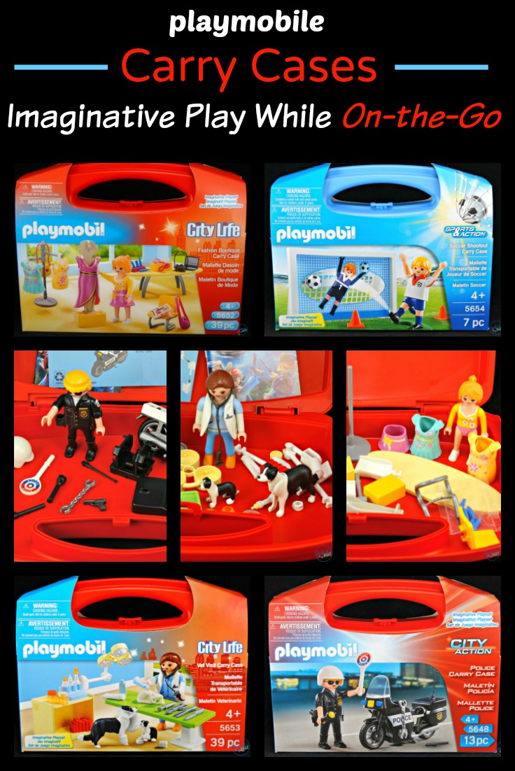 Keep kids entertained while traveling with these fun playmobil Carry Cases - themed play kits that encourage hours of creative play! Click through to learn more.
