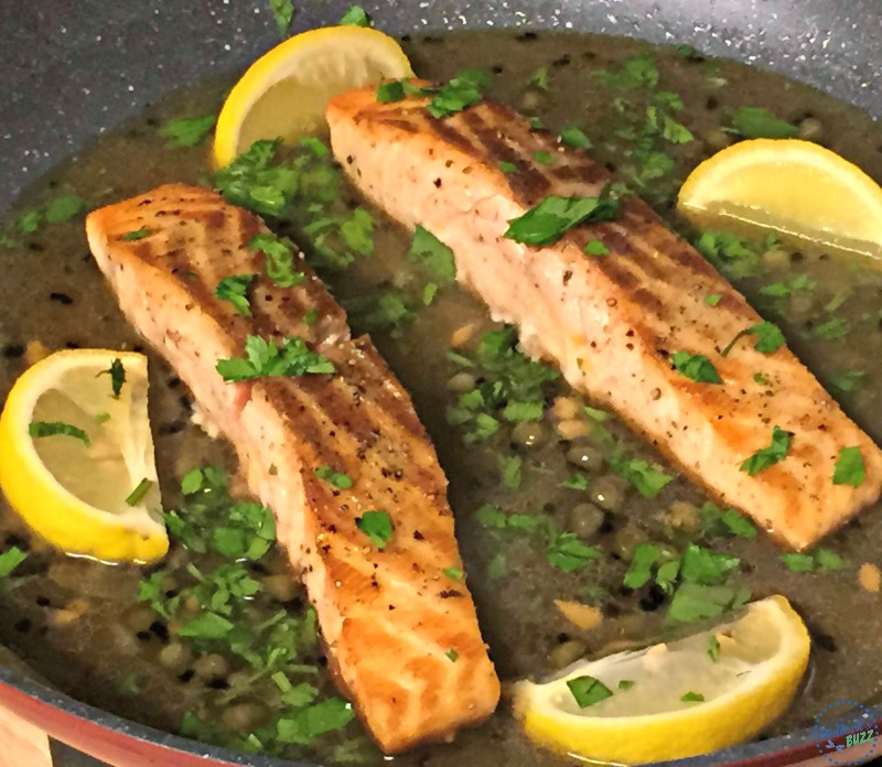 salmon picatta add lemons and capers