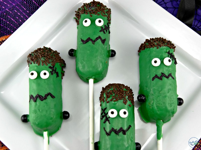 Easy Frankenstein Halloween treats made from Twinkies!