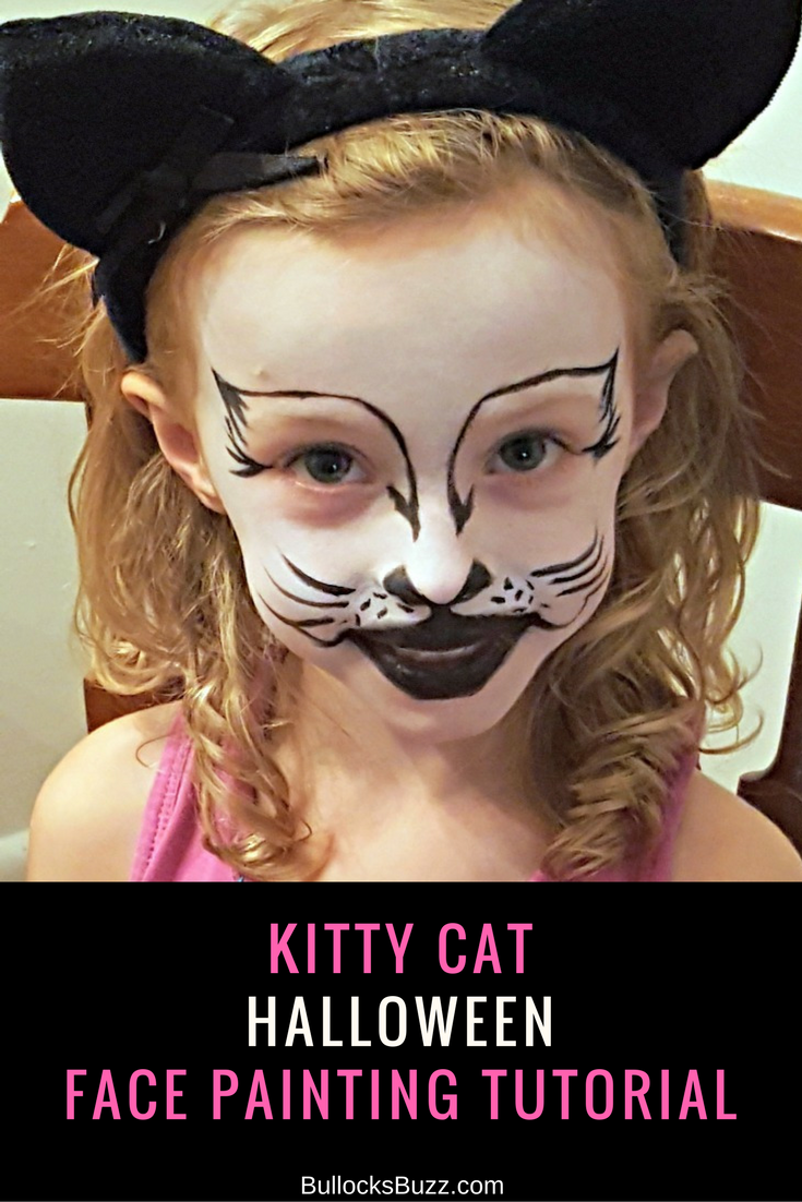 kitty cat face painting tutorial - halloween with snazaroo