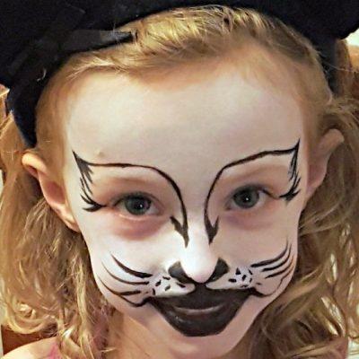 Kitty Cat Face Painting Tutorial – Halloween