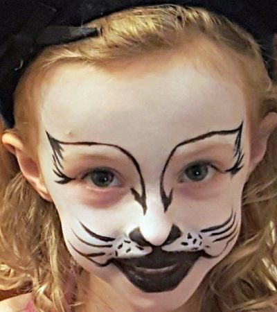 Kitty Cat Face Painting Tutorial – Halloween