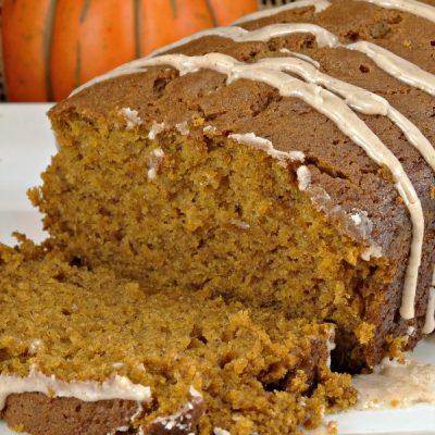 Pumpkin Gingerbread with Spiced Glaze