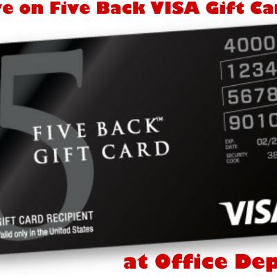 Save on Five Back Visa Gift Cards at Office Depot #OD15Back