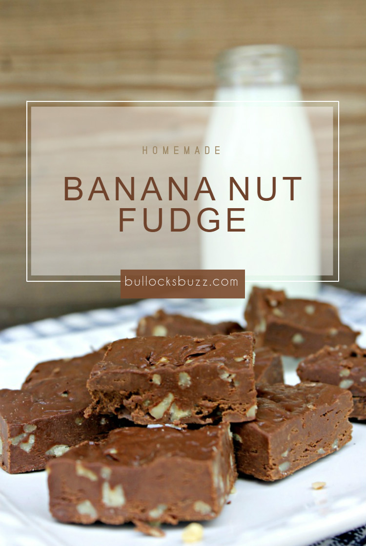 A deliciously rich, easy-to-make, Homemade Banana Nut Fudge recipe that has just a hint of banana and practically melts in your mouth.