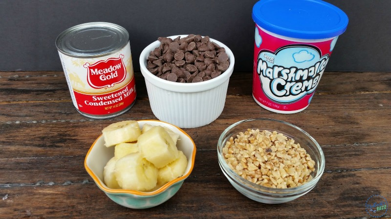 Banana Nut Fudge-ingredients