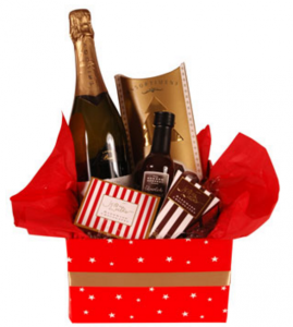 plum gifts champagne and chocolates