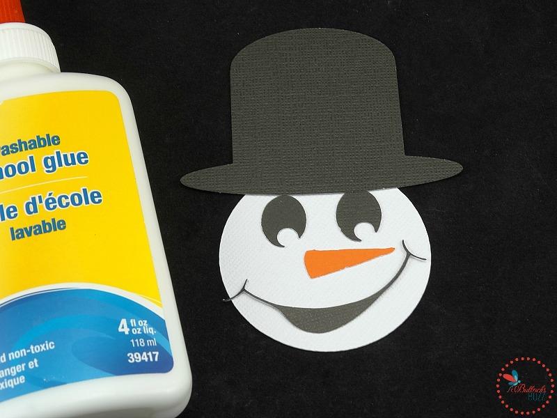 DIY Christmas Snowman treats glue on features