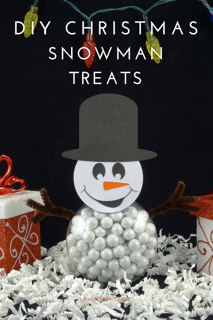 Filled with candy, these DIY Christmas Snowman treats are perfect for holiday parties, stocking stuffers, and even as place holders on your holiday table!