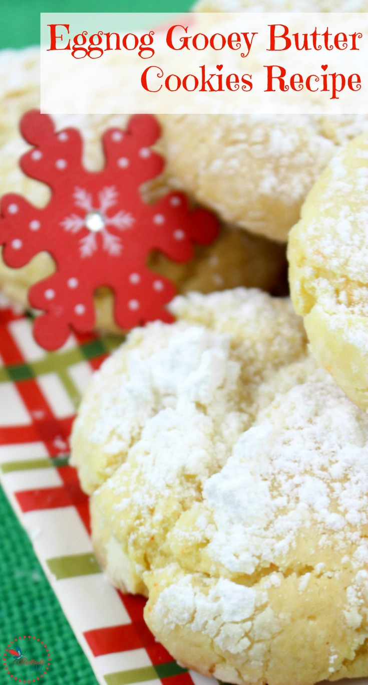Perfect for the holiday season, these Eggnog Gooey Butter Cookies will have your kitchen smelling amazing, and your guests asking for more! Hanukkah Haystacks post extra recipe