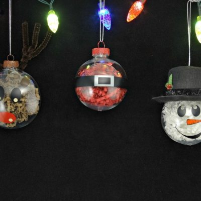 DIY Christmas Ornaments – Crinkle Paper Character Ornaments