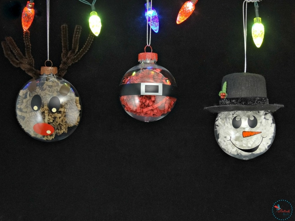 DIY Christmas Ornaments another holiday craft like my rudolph christmas candy jar