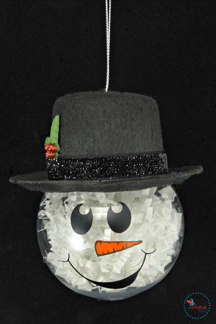 DIY Christmas Ornaments-snowman