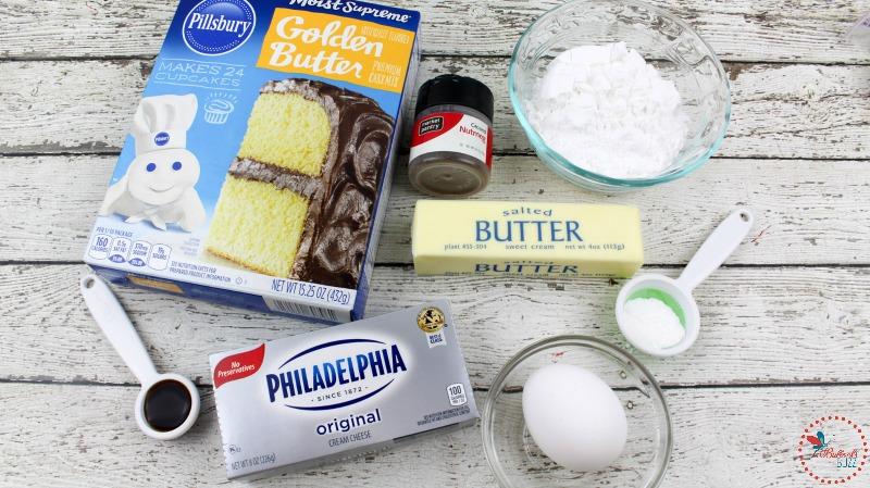 Eggnog Gooey Butter Cookies Recipe ingredients