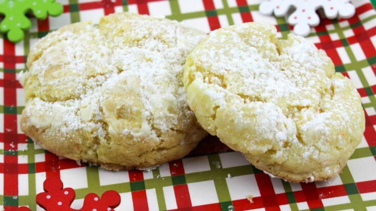 Eggnog Gooey Butter Cookies