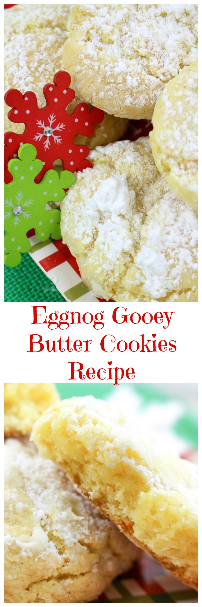 Perfect for the holiday season, these Eggnog Gooey Butter Cookies will have your kitchen smelling amazing, and your guests asking for more! Best of all, they are easy to make!