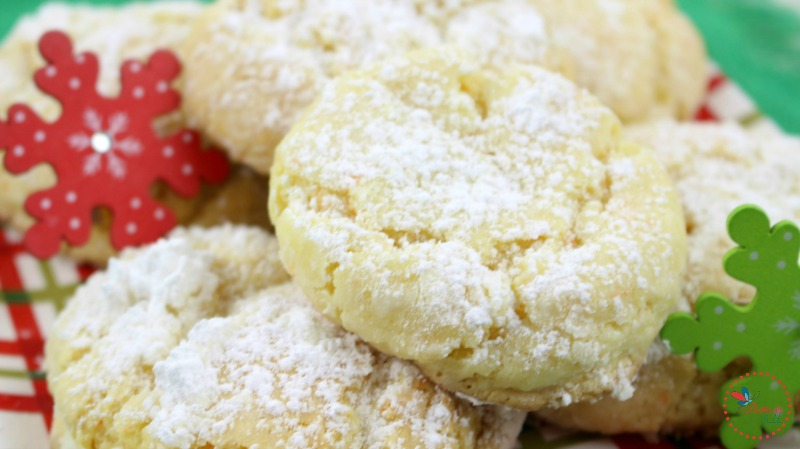 Eggnog Gooey Butter Cookies Recipe plated