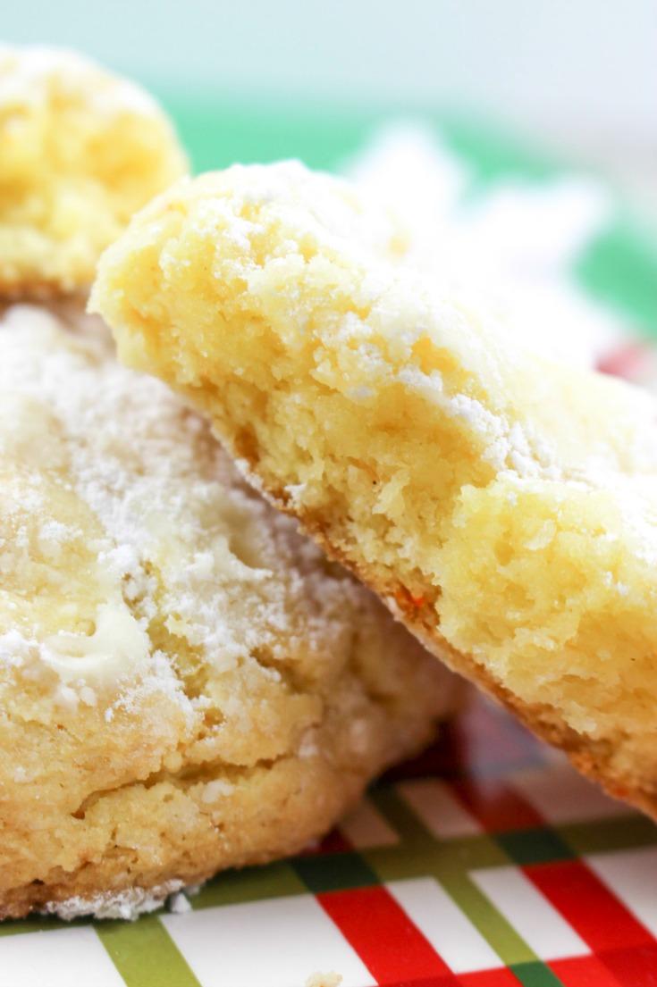Eggnog Gooey Butter Cookies Recipe image