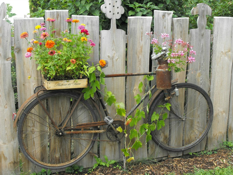 garden additions-bike-planter