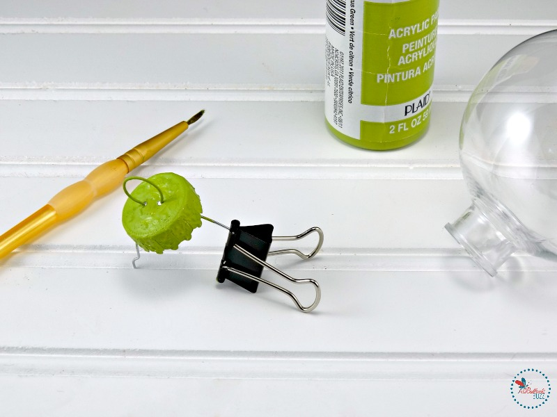 DIY-Grinch-Christmas-Ornaments-paint-the-caps-green
