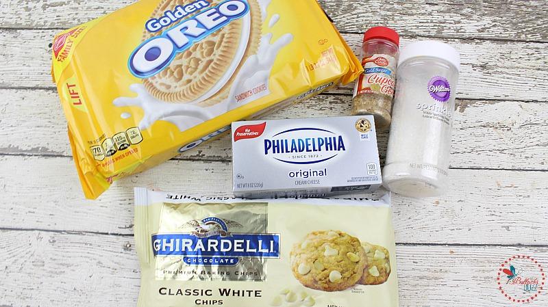 Golden Glitter White Chocolate Oreo Truffles ingredients