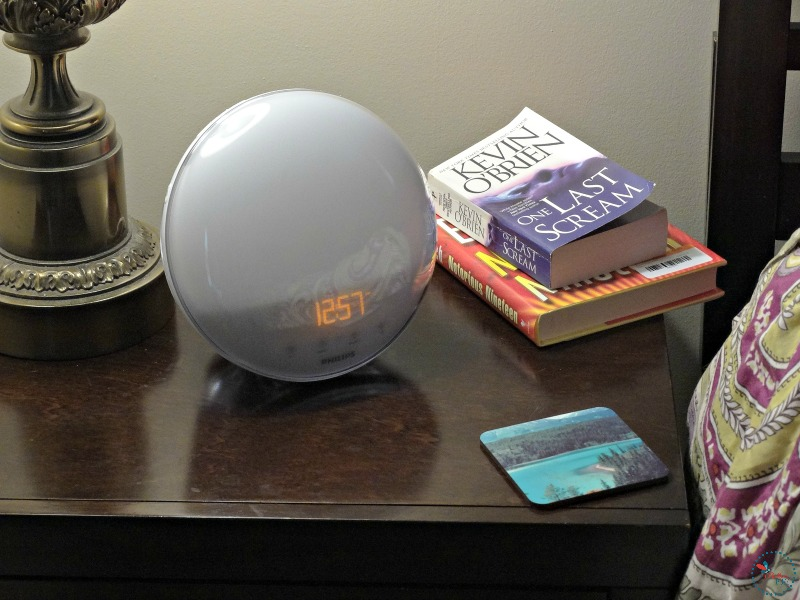philips wake-up light on nightstand