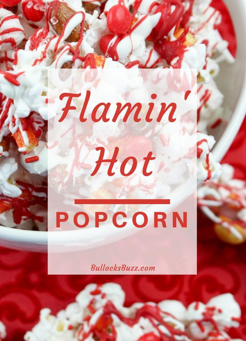 Add a little spice to the sweetest day of the year with this deliciously sweet-n-spicy Flamin' Hot Popcorn Valentine's Day Popcorn.