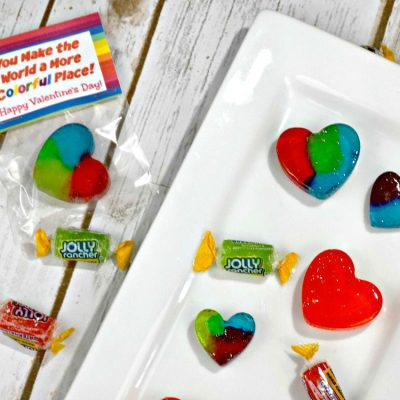 Homemade Jolly Rancher Rainbow Hearts – Perfect for Valentine's Day!