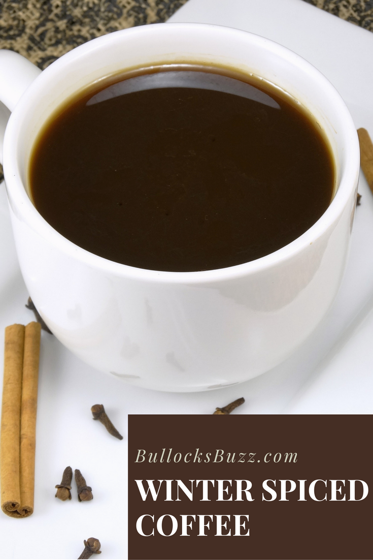 Flavored with cinnamon, cloves, and brown sugar, this delicious Winter Spiced Coffee Recipe is the prefect way to add some spice to your cuppa joe this holiday and winter season!