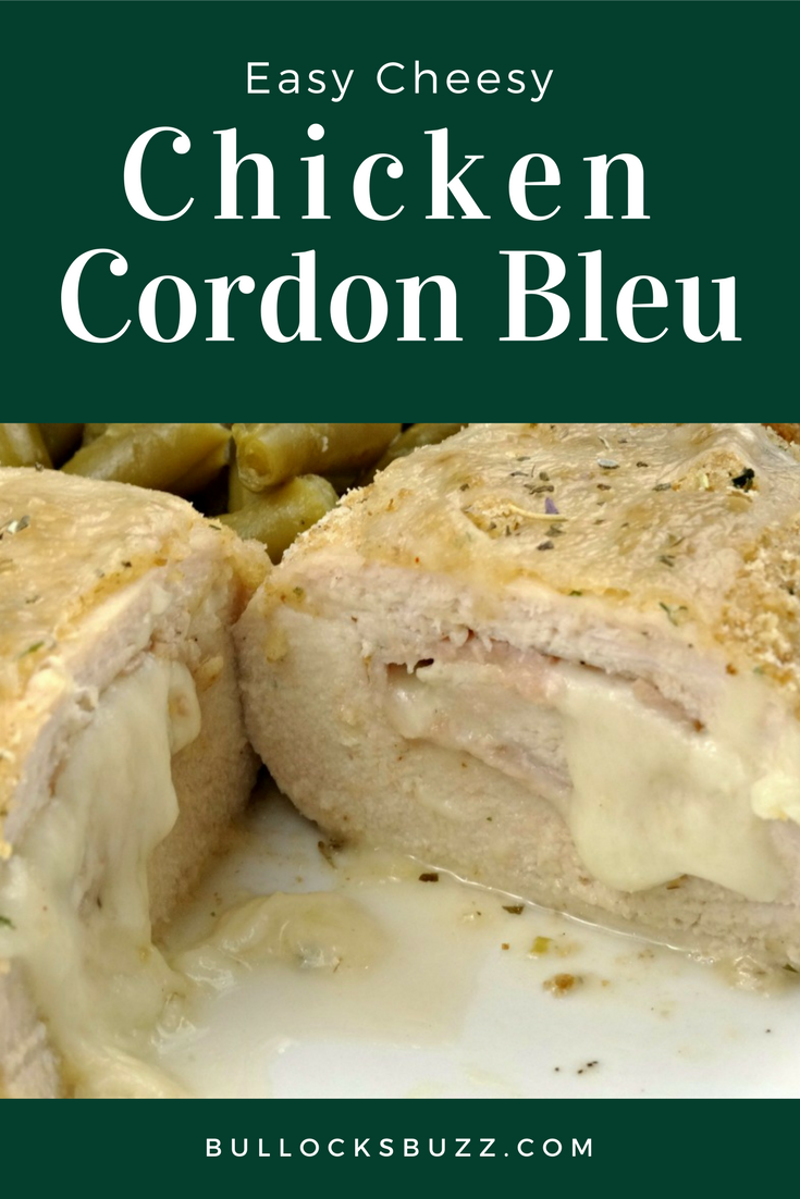 Chicken goes fancy when paired with ham and cheese in this Easy Cheesy Chicken Cordon Bleu recipe that is as elegant as it is easy. All the flavor, all the crunch, all the goodness of traditional Chicken Cordon Bleu - without all the fuss!