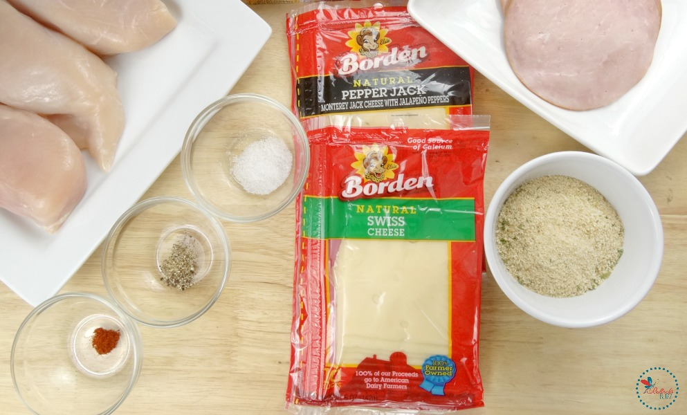 Easy Cheesy Chicken Cordon Bleu ingredients