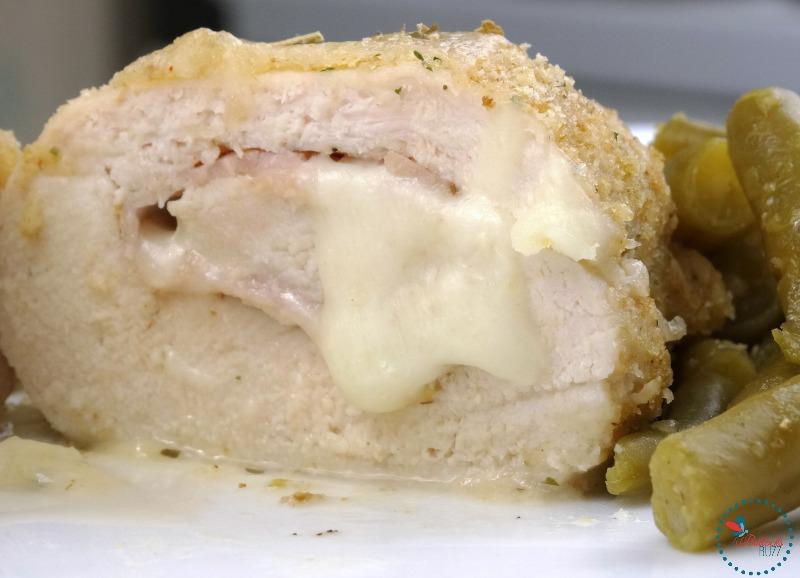 Easy Cheesy Chicken Cordon Bleu bake until juices run clear