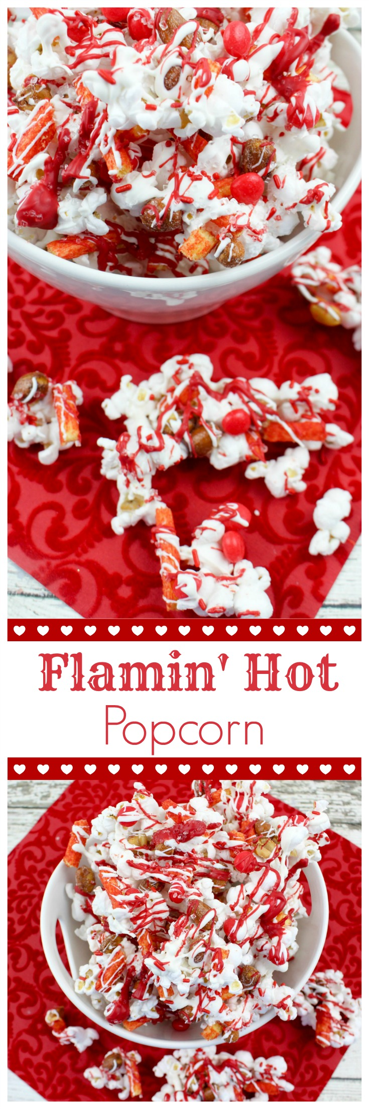 Add a little spice to the sweetest day of the year with this deliciously sweet-n-spicy Flamin' Hot Valentine's Day Popcorn recipe.