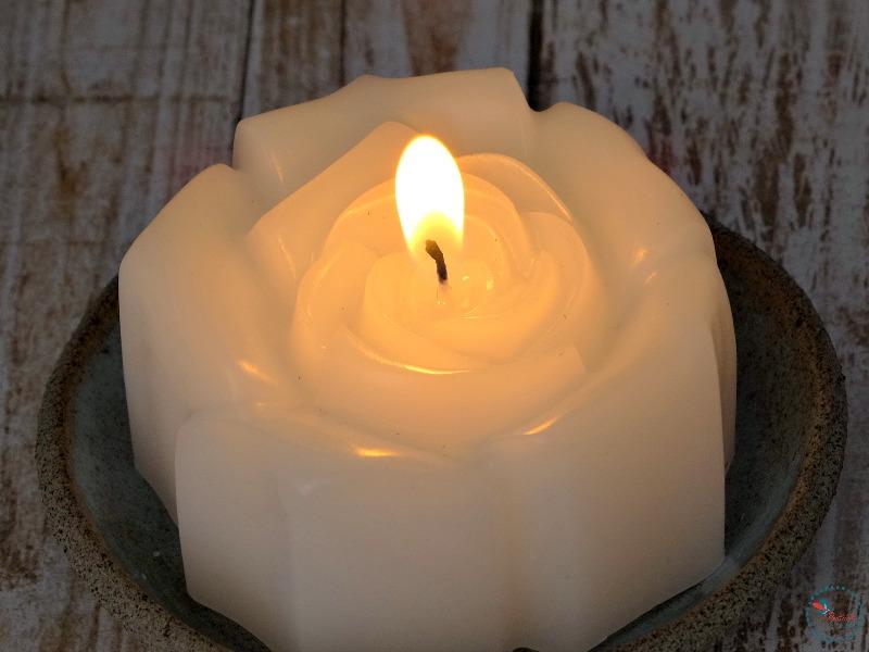 VIBceramics lit candle