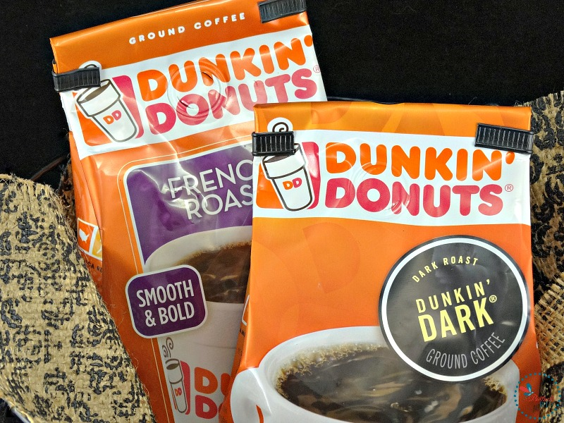 winter spiced coffee with Dunkin Donuts
