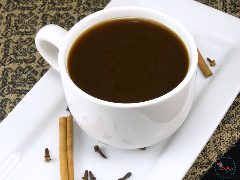 above view of winter spiced coffee recipe