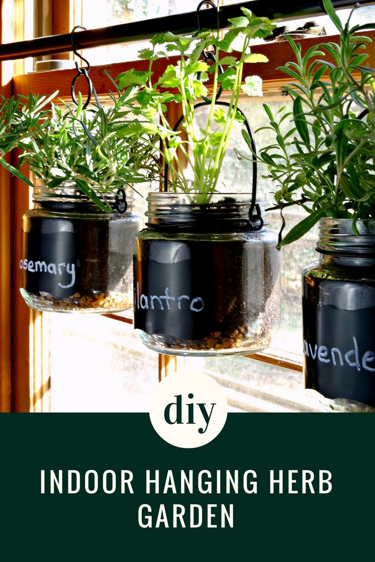 Liven up your recipes with fresh herbs from your own DIY Indoor Hanging Herb Garden! This easy DIY turns a few simple materials into a great herb garden!
