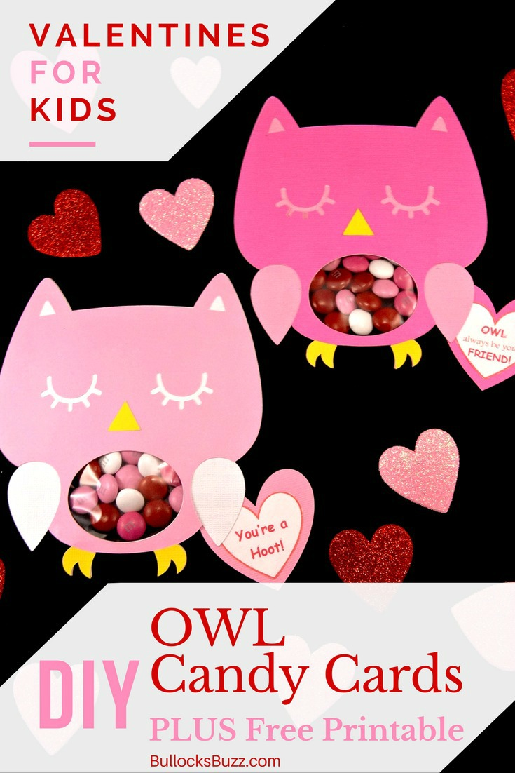 These unique and adorable DIY Owl Valentine Candy Cards are perfect for your child's classroom party or to give to friends and family! They'll make Valentine's Day even sweeter! Plus, a free printable!