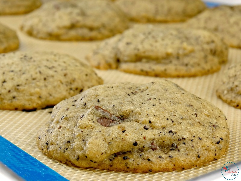 Chocolate Chunk Coffee Cookies let cool on sheet