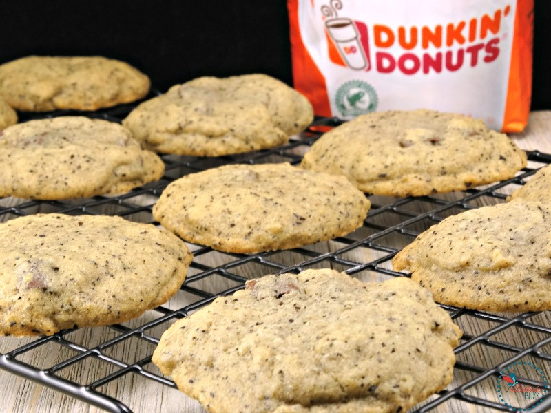 Chocolate Chunk Coffee Cookies transfer to rack