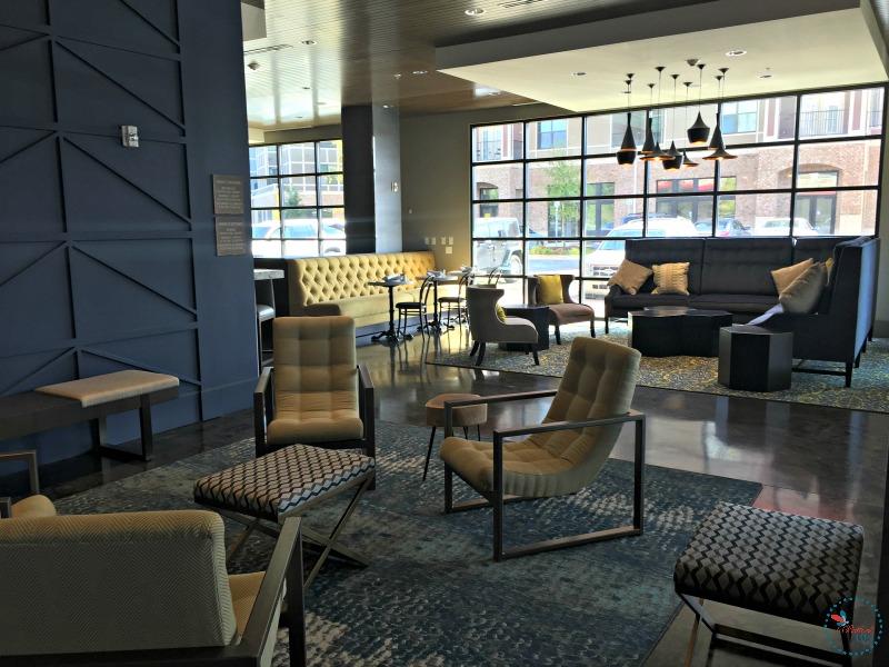 Hotel Indigo Tuscaloosa lobby seating nooks