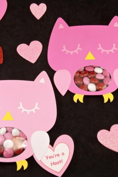 DIY Owl Valentines Candy Cards + Free Printable!
