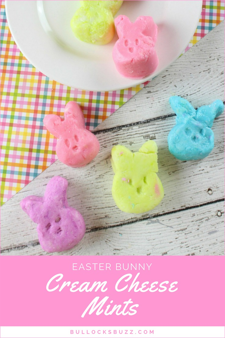 Colorful bites of deliciousness with a creamy, melt in your mouth texture, and sweet peppermint taste make these adorable Easter Bunny Cream Cheese Mints the perfect Easter treat.