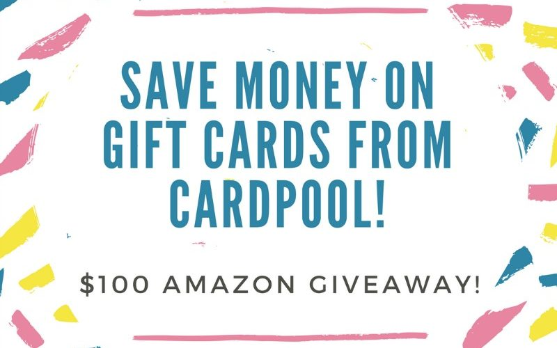 Save Money on Discounted Gift Cards from Cardpool! Plus a $100 Amazon Giveaway! #CardOffer317