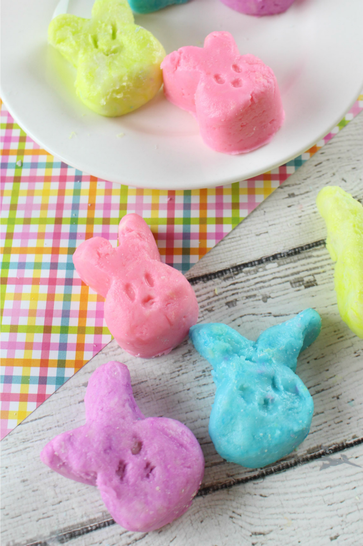 Easter Bunny Cream Cheese Mints: children and adults will love these colorful bites of deliciousness with a creamy, melt in your mouth texture, and sweet peppermint taste.