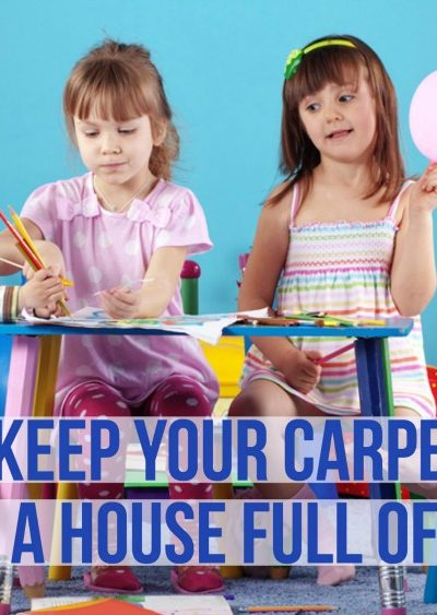 How to Keep Your Carpet Clean with a House Full of Kids