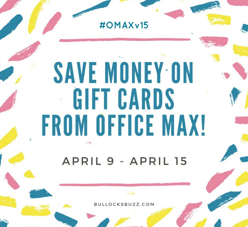 Easter Basket Fillers with office max deal on gift cards