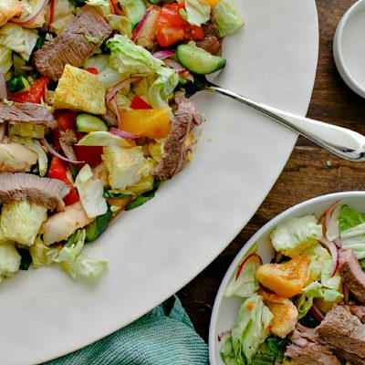 Steak and Heirloom Tomato Panzanella – A Classic Italian Bread Salad
